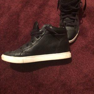 High Top Black Sneakers